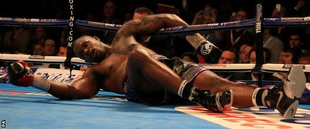 Dillian Whyte is knocked out in the seventh round