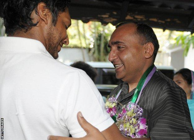 Kumar Sangakkara and Mohammad Khalil