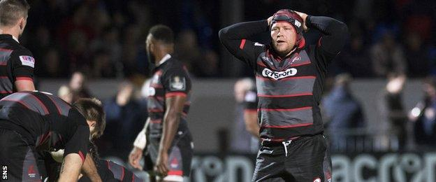 Edinburgh forward WP Nel is left distraught at the final whistle
