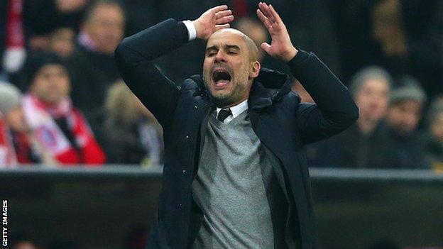 Bayern Munich boss Pep Guardiola