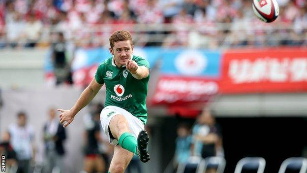 Paddy Jackson made his senior Ireland debut against Scotland in 2013