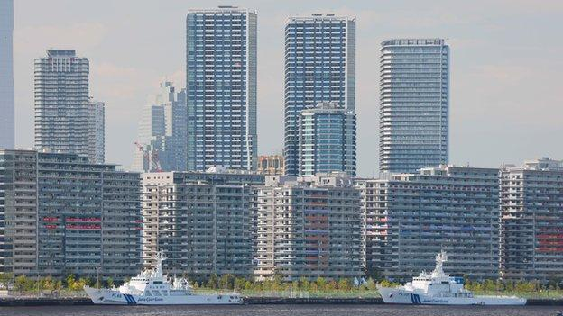 The Olympic village in Tokyo, Japan