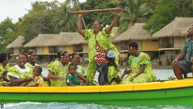 Ni-Vanuatu women celebrate after a match