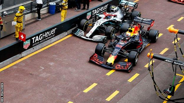 Bottas and Verstappen