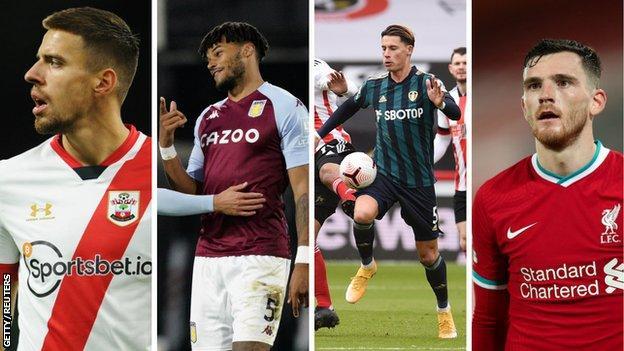 Jan Bednarek (Southampton), Tyrone Mings (Aston Villa), Robin Koch (Leeds), Andy Robertson (Liverpool)