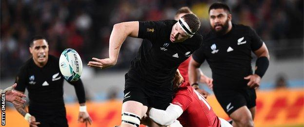 New Zealand lock Brodie Retallick set up their opening try as part of an all-round performance