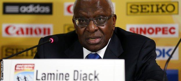 Diack is under formal investigation in France on suspicion of corruption and money laundering
