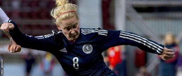 Kim Little opened the scoring for Scotland