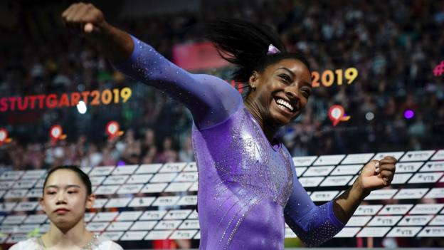Simone Biles: Gymnast breaks World Championships medals record