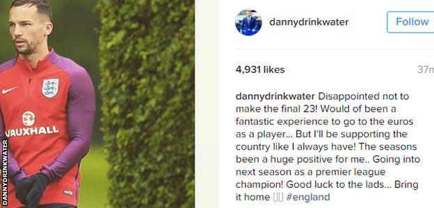 Danny Drinkwater Instagram message