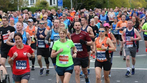 Up to 18,000 runners took part in the Belfast City Marathon in 2019