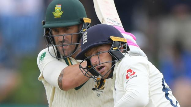 England in South Africa: Faf du Plessis plays down Jos Buttler collision thumbnail