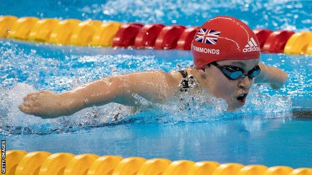 Britain's Ellie Simmonds in action at the Rio Paralympics