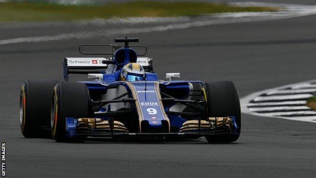 Marcus Ericsson in action for Sauber