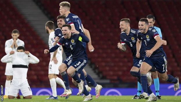 Scotland's penalty triumph sets up a tie with Serbia
