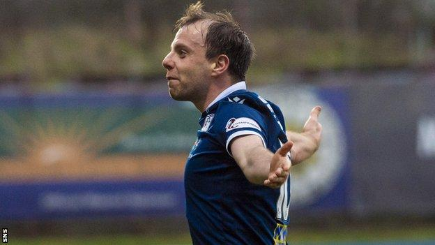 Dundee's Paul McGowan scored the only goal of the game