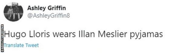 "Fan reaction to Illan Meslier performance: ""Hugo Lloris wears Illan Meslier pyjamas"""