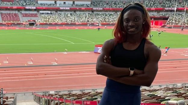 Namibian athlete Beatrice Masilingi