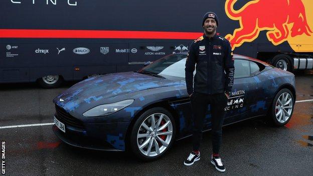 Daniel Ricciardo at Red Bull 2018 car launch
