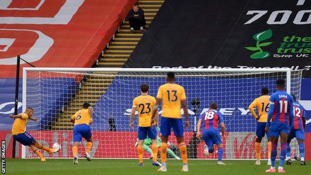 Richarlison penalty, Everton, Crystal Palace