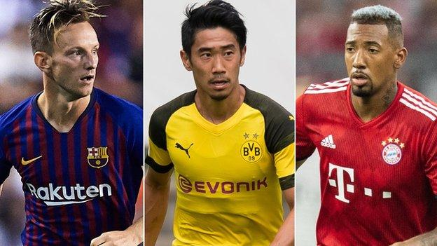 Ivan Rakitic, Shinji Kagawa and Jerome Boateng