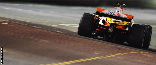 Nelson Piquet Jr at the Singapore Grand Prix