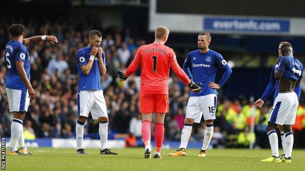 Everton players
