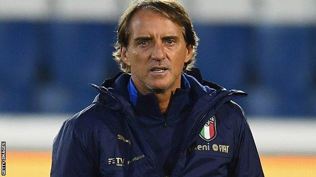 Roberto Mancini: Italy coach tests positive for Covid-19 - BBC Sport