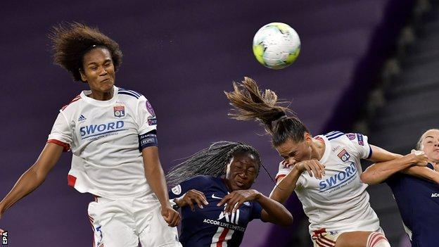 Wendie Renard scores for Lyon