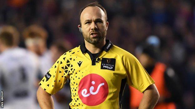 Referee Mike Adamson