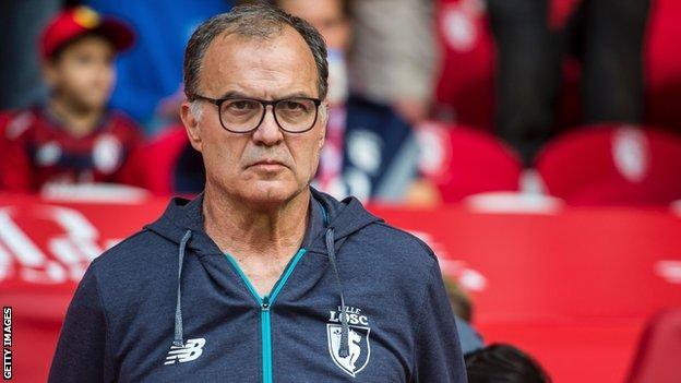 Lille head coach Marcelo Bielsa