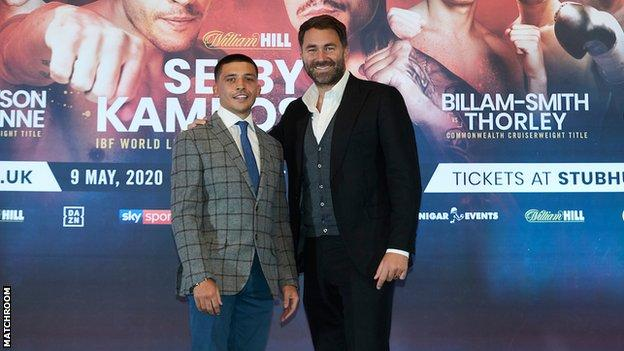 Lee Selby and Eddie Hearn