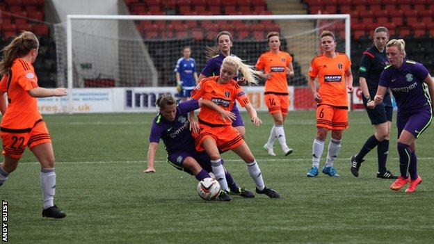 Glasgow City and Hibernian Ladies shared six goals in Airdrie