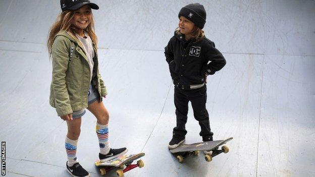 Sky and her little brother Ocean are both skaters and surfers