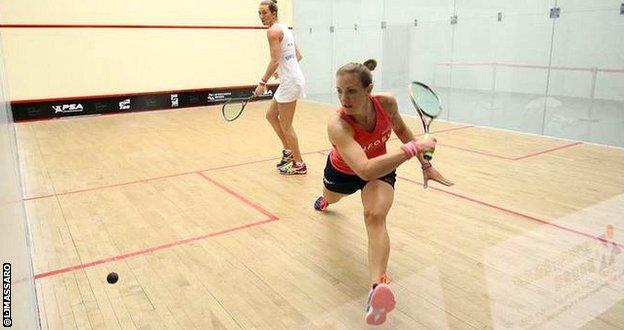 Laura Massaro and Donna Urquhart at the Macau Open