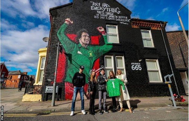 Mural of Ray Clemence