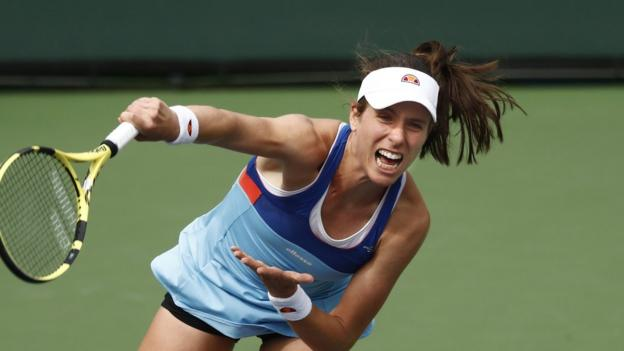 Indian Wells: British number one Johanna Konta beaten by Kiki Bertens at BNP Paribas Open thumbnail