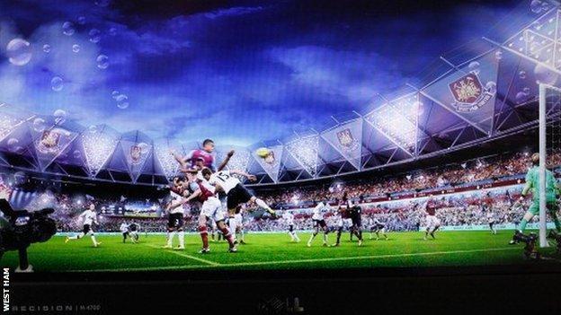 Artist's impression of West Ham at the Olympic Stadium