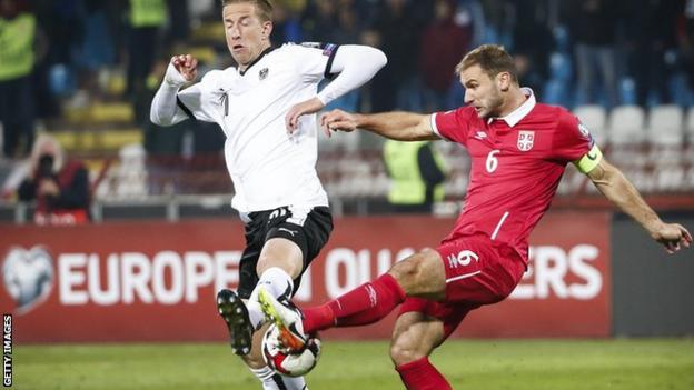 Branislav Ivanovic currently has 95 caps for Serbia