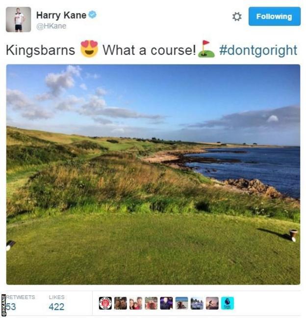 Harry Kane golf