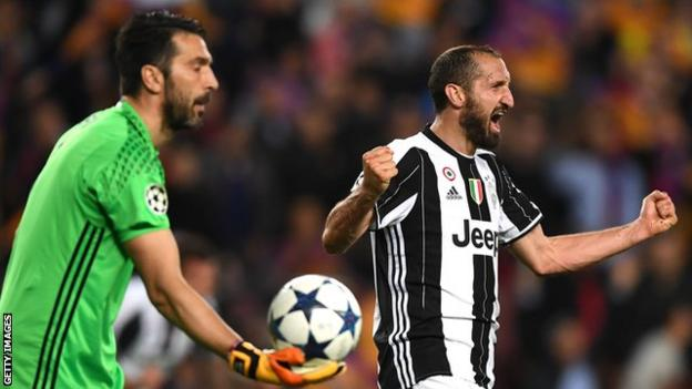 Juventus were exceptional in every department but their defensive performance was outstanding. Giorgio Chiellini (right) used all his experience to help his team advance on a night to remember