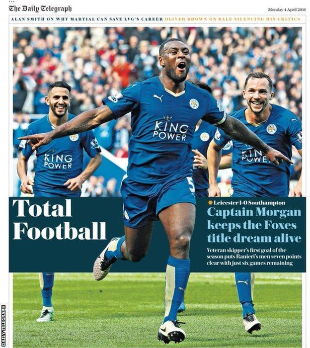 Monday's Daily Telegraph