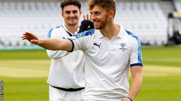 Yorkshire paceman Ben Coad was the first of the day's two bowlers to take five wickets in an innings