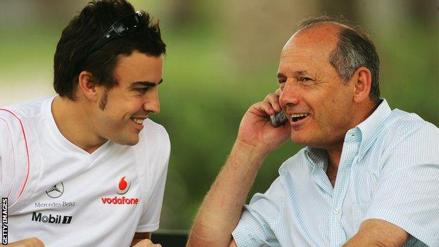 Ron Dennis and Alonso
