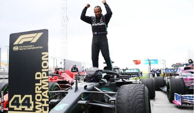 Lewis Hamilton wins his seventh Formula 1 world championship in Turkey