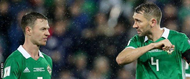 West Brom defenders Jonny Evans and Gareth McAuley have been regular fixtures in the Northern Ireland defene