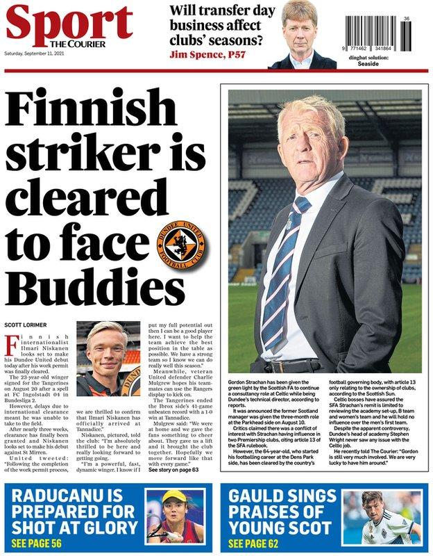 The back page of the Courier on 110921