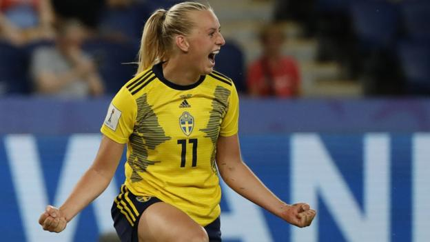 Women's World Cup 2019: Sweden beat Canada to set up Germany quarter-final thumbnail