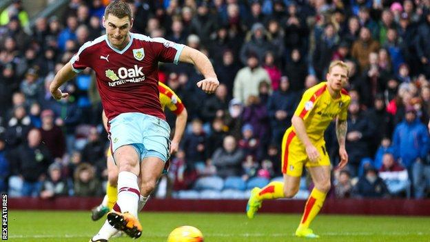 Sam Vokes sent Lee Camp the wrong way from the penalty spot