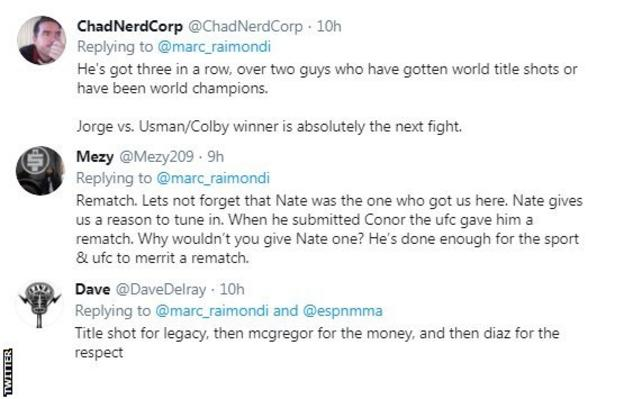 Twitter reaction to Masvidal win over Nate Diaz